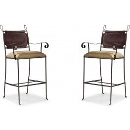The Foundry III Brown Sylvian Bar Stool Set of 2