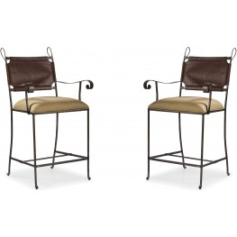 The Foundry III Brown Sylvian Counter Stool Set of 2