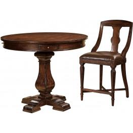 Havana Antique Brown Pub Table Set