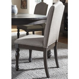 Catawba Hills Peppercorn Upholstered Side Chair Set of 2