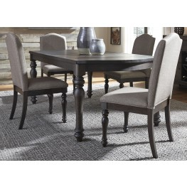 Catawba Hills Peppercorn Extendable Rectangular Dining Room Set