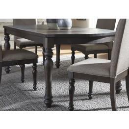 Catawba Hills Peppercorn Extendable Rectangular Leg Dining Table
