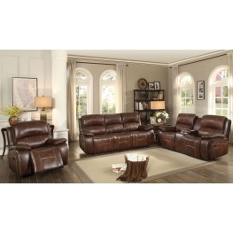Mahala Brown Double Reclining Living Room Set