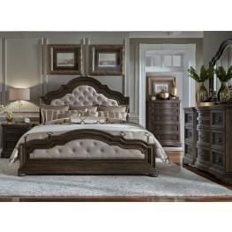 Valley Springs Brown and Beige Upholstered Bedroom Set