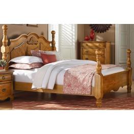 Georgetown Golden Honey Pine King Poster Bed