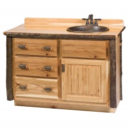 "Hickory 48"" Right Side Vanity with top"