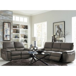 Corazon Gray Power Double Reclining Living Room Set