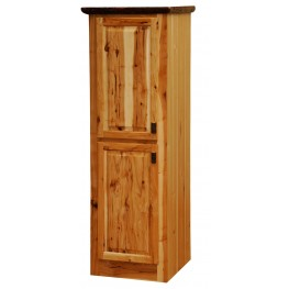 """Hickory 18"""" Linen 2 Single Doors Cabinet With Hinged Left"""