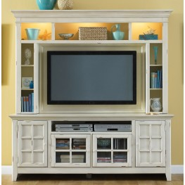 New Generation White Entertainment Center Detail