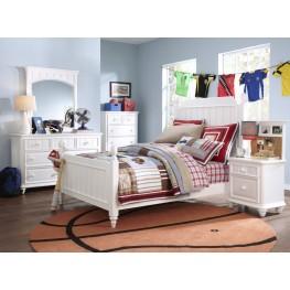 SummerTime Fresh White Youth Poster Bedroom Set