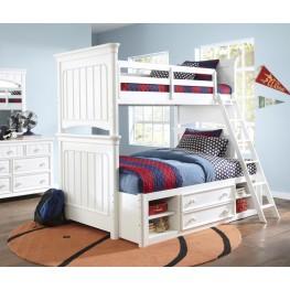 SummerTime Fresh White Bunk Bedroom Set