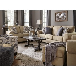 Denitasse Parchment Living Room Set