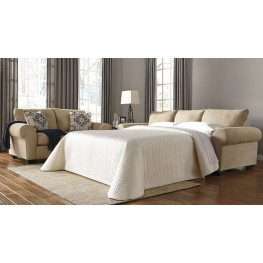 Denitasse Parchment Queen Sofa Chaise Sleeper