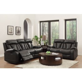 Ackerman Black Reclining Living Room Set