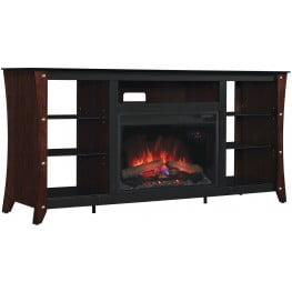 """ClassicFlame Midnight Cherry Marlin TV Stand with 26"""" Infrared Quartz Fireplace"""