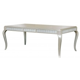 Diva Metallic Rectangular Extendable Leg Dining Table