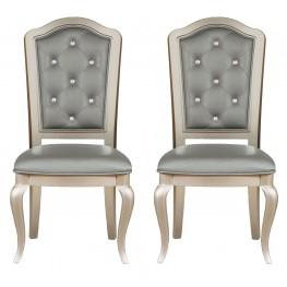 Diva Metallic Side Chair Set of 2