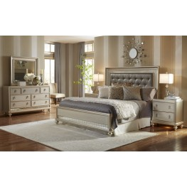 Diva Metallic Panel Bedroom Set