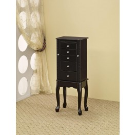 Black Jewelry Armoire 900139