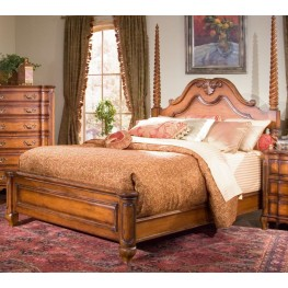 Marquette Park Cognac King Panel Bed