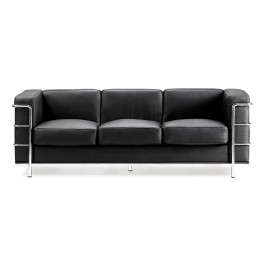 Fortress Black Sofa