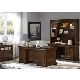 Chateau Valley Brown Cherry Home Office Set