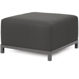 Axis Sterling Charcoal Ottoman Slipcover