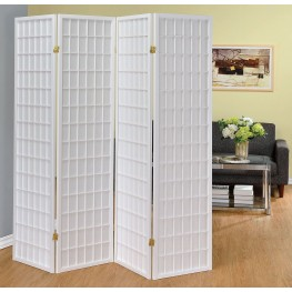 White Folding Screen
