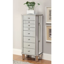 903808 Antique Silver Jewelry Armoire