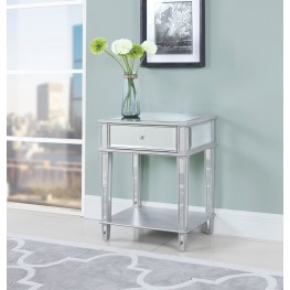 Clear Mirror Accent Table