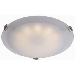 Aero Brushed Steel LED Small Flush mount