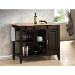 910028 Natural/Cappuccino Kitchen Cart