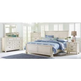Chesapeake Bay Vintage Chalk White Panel Bedroom Set