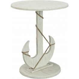 Sanibel White Rub Accent Table