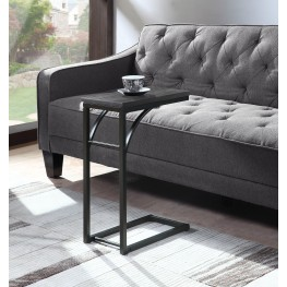 Weathered Gray And Black Accent Table