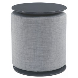 High Gloss Gray Accent Table By Scott Living