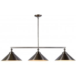 Conical Brushed Steel 3 Light Island Light