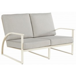 Cityscapes Paint White Parker Outdoor Loveseat