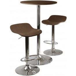 Kallie Cappuccino Round Pub Set