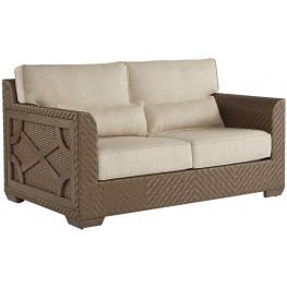 Arch Salvage Sweet Grass Florence Outdoor Wicker Loveseat