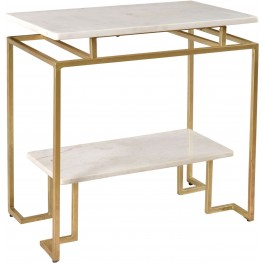 Vendar Burnished Gold Accent Table