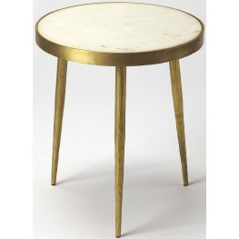 Butler Loft Triton White Marble Bunching Table