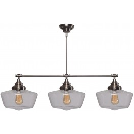 Cambridge Aged Metal With Clear Glass 3 Light Island