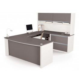 Connexion U-Shaped Workstation Kit In Slate & Sandstone