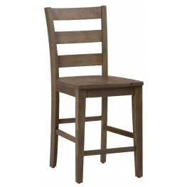 Slater Mill Pine Three Rung Ladderback Stool Set of 2