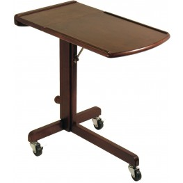 Olson Antique Walnut Adjustable Laptop Cart