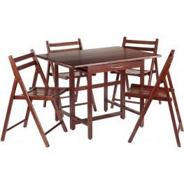 Taylor 5 Piece Drop Leaf Extendable Dining Set