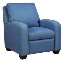 Ayanna Nuvella Blue Low Leg Recliner