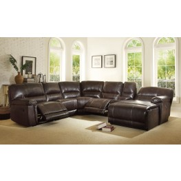 Blythe II Dark Brown Reclining Sectional