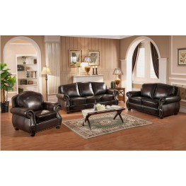 Hyde Brown Leather Living Room Set